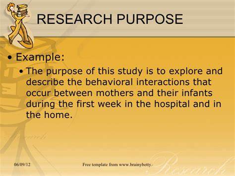 how to write purpose of study in research paper chapter 3 the research problem
