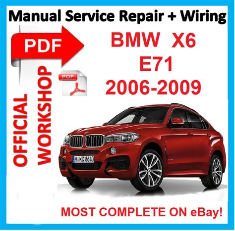 how to download repair manuals 2008 bmw x6 navigation system official workshop manual service repair bmw x6 2006 2007 2008 2009 ebay