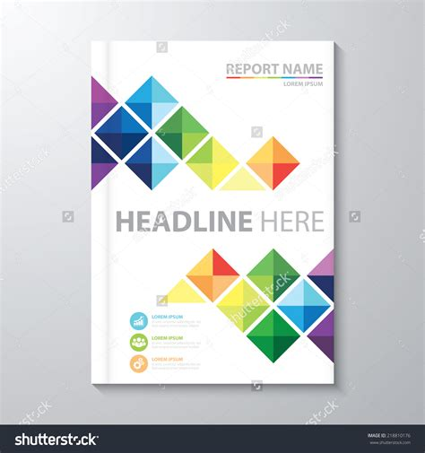 cover sheet layout abstract colorful triangle background cover design