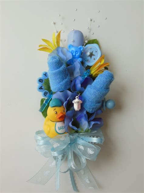 Corsage For Baby Shower by Reserved For Baby Shower Corsage Baby Washcloth