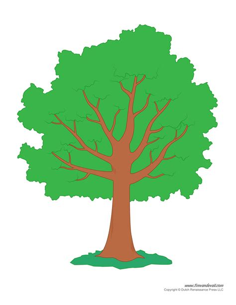 tree templates tim de vall comics printables for