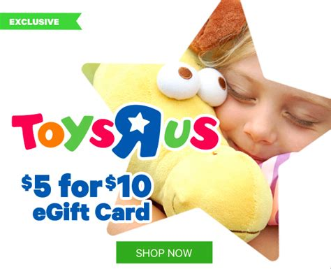 Toys R Us 10 Gift Card - select groupon users 20 toys r us gift card only 10