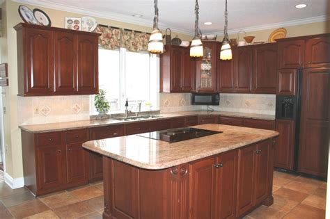 cherry cabinet kitchens best granite for cherry cabinets ideas with countertops