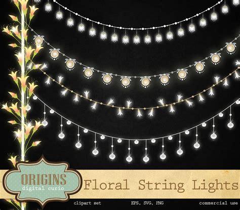 Floral String Lights Clipart Illustrations On Creative Floral String Lights