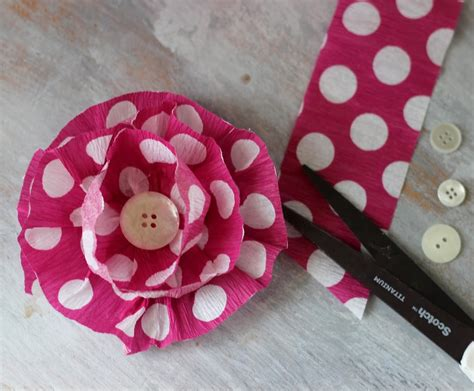 How To Make Paper Crepe Flowers - how to make crepe paper flowers