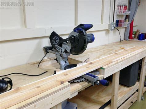 bench chop saw miter saw workbench