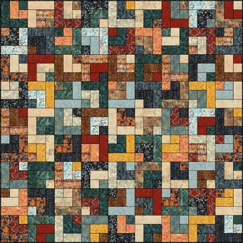 Log Cabin Quilt Pattern Lets Quilt Something Retro Cabin Free Quilt Pattern