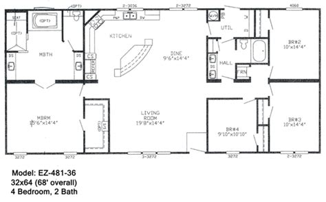 mobile homes floor plans double wide double wide floorplans mccants mobile homes