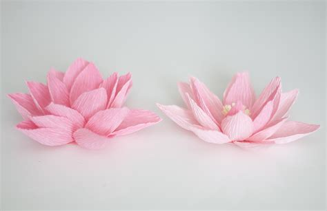 Lotus With Paper - crepe paper water ash and crafts