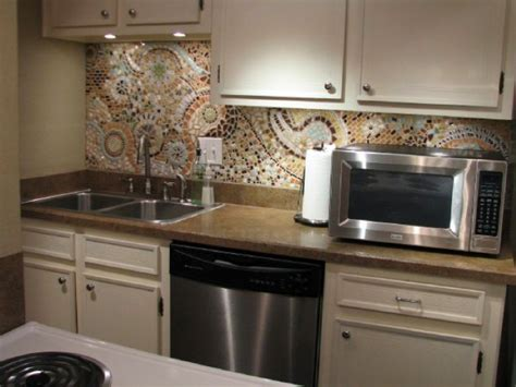 cheap glass tiles for kitchen backsplashes mosaic kitchen backsplash inexpensive easy backsplash diy