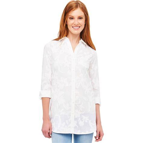 Blouse Simply Line foxcroft tunic blouses lace henley blouse