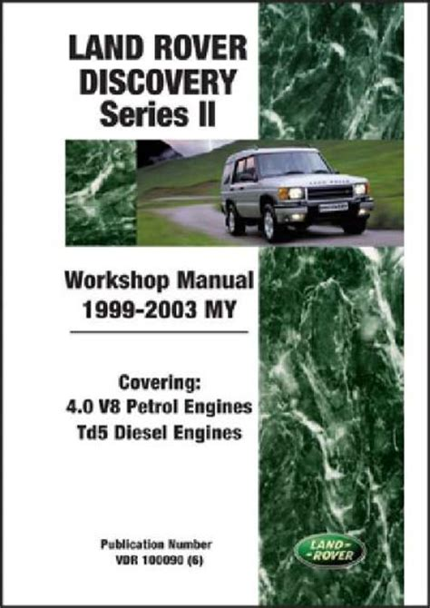 auto manual repair 2003 land rover discovery engine control land rover discovery series 2 1999 2003 my workshop manual brooklands books ltd uk sagin