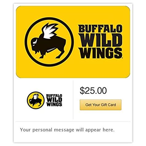 Buffalo Wild Wings 25 Gift Card - 10 top grossing products in gift cards march 2016