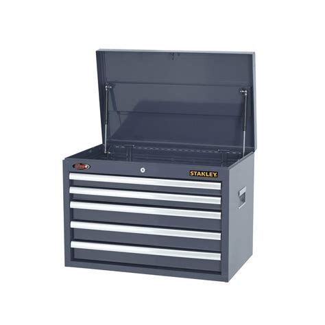 stanley 24 in w 5 drawer tool cabinet stanley 26 in w 5 drawer tool chest gray h5chsgy the