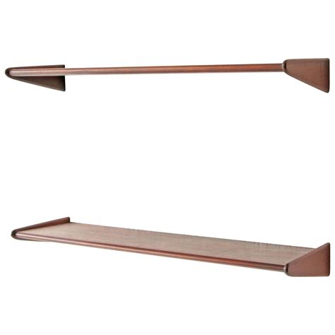 pair of danish modern walnut floating shelves at 1stdibs
