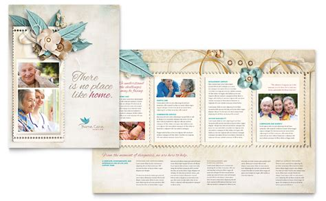 hospice home care brochure template word publisher