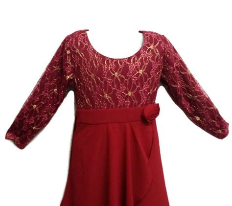 Baju Ammore Dress Maroon Flh jubah moden baju kurung for ages 3y to 8y maroon gold 11street malaysia dresses