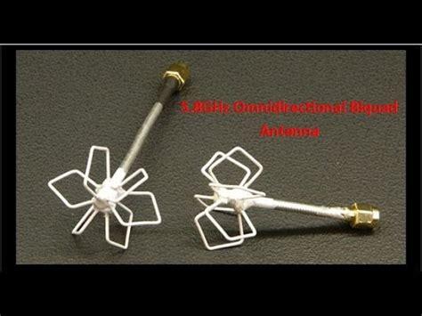 omnidirectional biquad antenna    ghz fpv youtube