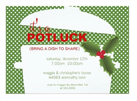 7 potluck party invitations designs templates free