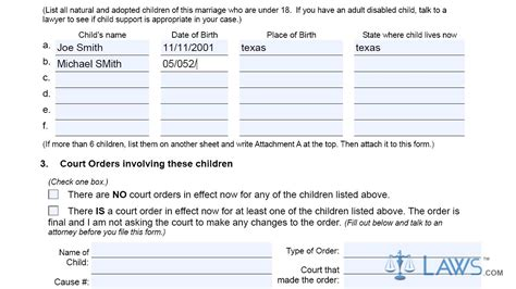 texas divorce facts texas divorce source form petition for divorce with children texas youtube