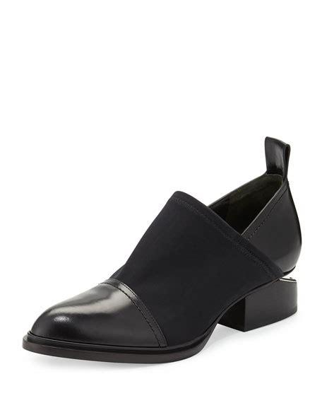 wang kori stretch neoprene leather shoe black