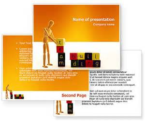 Team Building Powerpoint Presentation Templates by Team Building Powerpoint Template Poweredtemplate