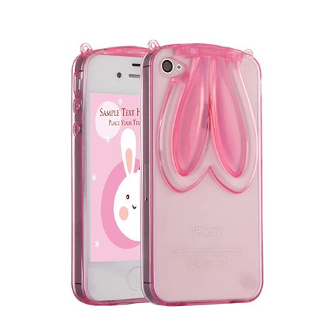 Monochrome Softcase For Iphone 4 5 Se 6 6s 6 rabbit ear phone for apple se for iphone 4 5 6 6