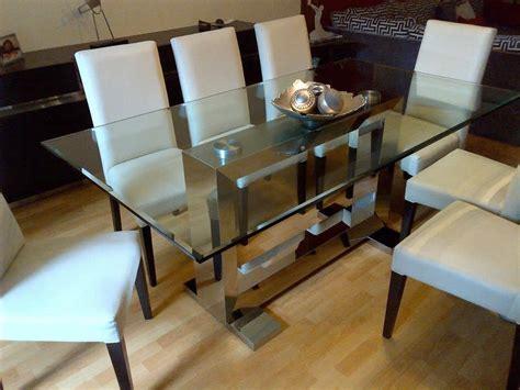 mesas de comedor  sillas en acero inoxidable aceros del