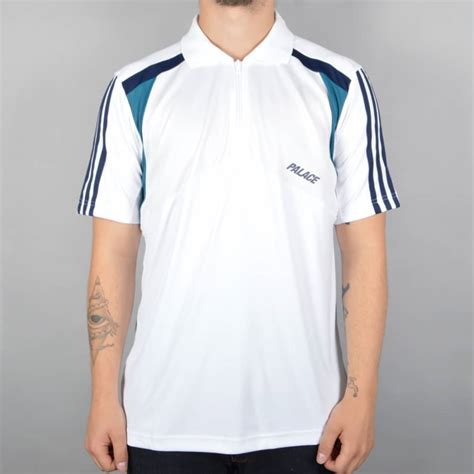 Polo Shirt Adidas White palace skateboards x adidas originals ssl polo shirt white indigo palace skateboards