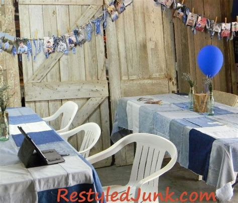 decorating with denim the 20 best graduation party ideas