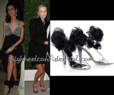 Corsage Vinyl Sandals By Mcqueen by Charlize Theron Archives High Heel Confidential