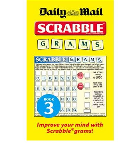is eq a scrabble word collins quot daily mail quot scrabble grams puzzle book no 3