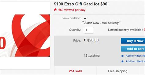 Esso Gift Card - canadian rewards 100 esso gift card for 90