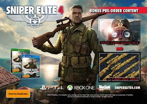 Sale Sniper Elite 4 Ps4 sniper elite 4 xbox one on sale now at mighty ape nz