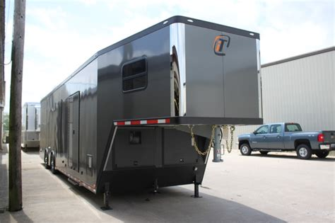 with trailer 42 custom race trailer with bathroom package custom