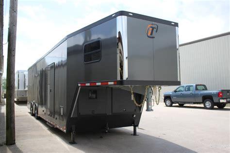 42 custom race trailer with bathroom package custom