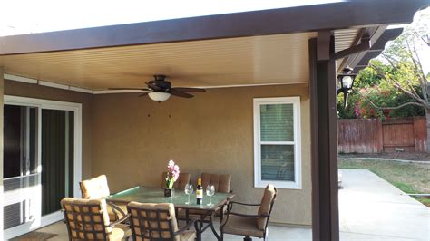 solid alumawood two toned patio cover i greenbee patios