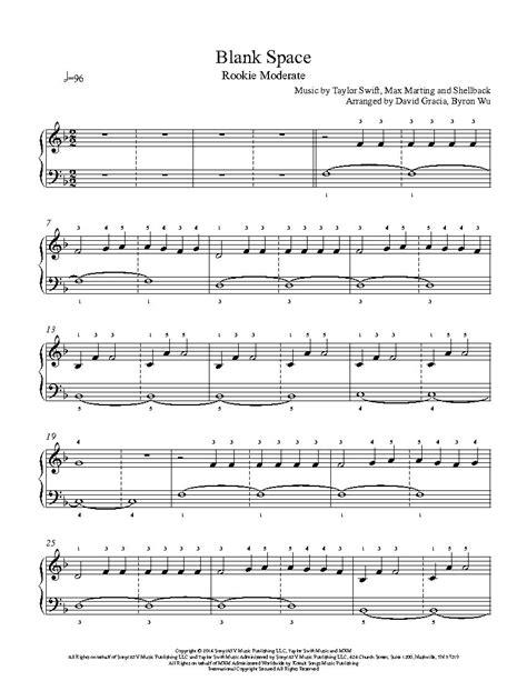taylor swift blank space lyrics pdf download blank space by taylor swift piano sheet music rookie
