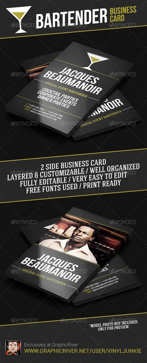 bartender business card template bartender business card by vinyljunkie graphicriver