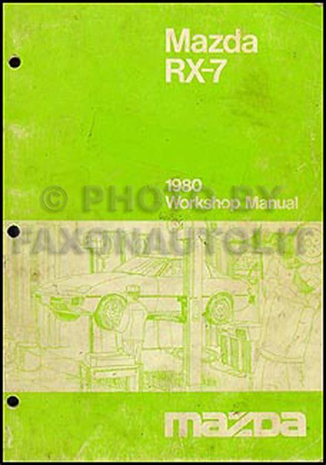 1984 mazda rx 7 repair shop manual original 1980 mazda rx 7 repair shop manual original