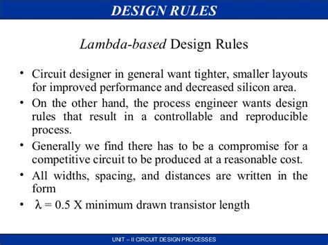 design rules and layout in vlsi vlsi circuit design process