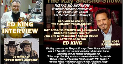 classic rock  reporter  ray shasho show welcomes ed king strawberry alarm clock