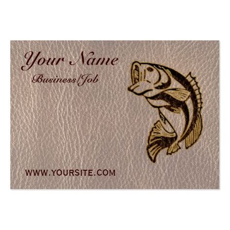 free fishing business card templates leather look fish soft business card template zazzle