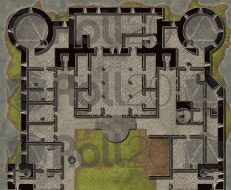 Floor Plans With Basement by Hassle Free Castles Military Keep Roll20 Marketplace