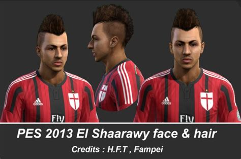 hair style el sharawy pes 6 el shaarawy archives pes patch