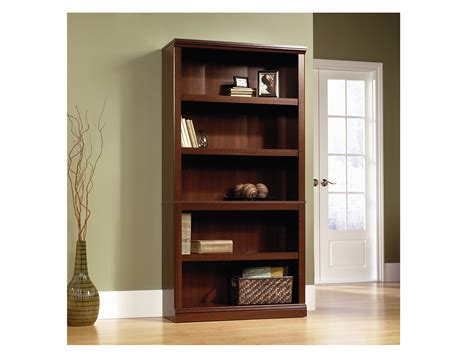 sauder contemporary 5 shelf bookcase office bookcases steinhafels