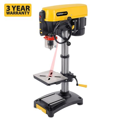 speed benching powerplus 12 speed 500 watt 240v motor bench drill press