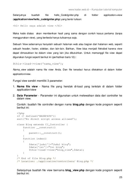 video tutorial codeigniter bahasa indonesia framework codeigniter 2 bahasa indonesia