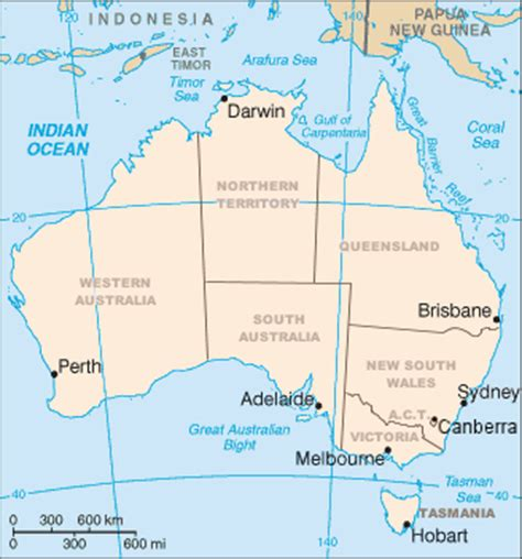 australia map with country names and capitals australia bahasa indonesia ensiklopedia bebas