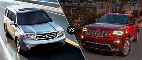 honda jeep 2015 2015 honda pilot vs 2015 jeep grand